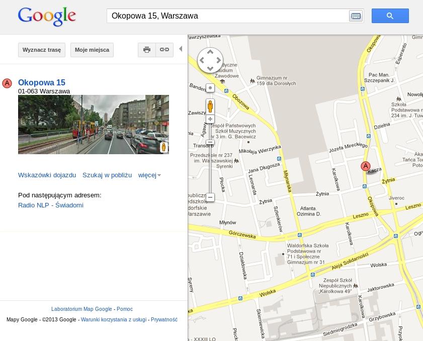 dodanie lokalizacji do mapy google